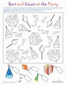 sorting worksheet for kindergarten 7907 sort and count worksheet education