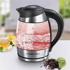 led wasserkocher gourmetmaxx wasserkocher glas led temperaturwahl 1 8l