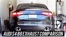 audi s4 b8 exhaust comparison miltek capristo armytrix etc youtube