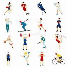 type de sport sport icon set stock vector illustration of human