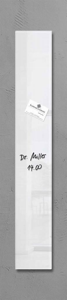 glas pinnwand sigel design glas magnetboard 12x78cm magnet magnettafel