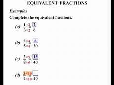equivalent fraction worksheets for grade 6 4266 6th grade equivalent fractions