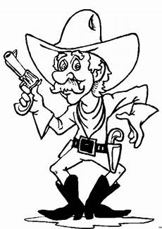 aelterer cowboy ausmalbild malvorlage comics