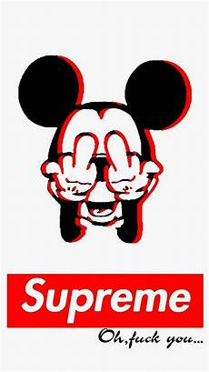 Mickey Mouse Wallpaper Supreme by My Middle Finger Likes You Wallpapers Wallpaper Cave
