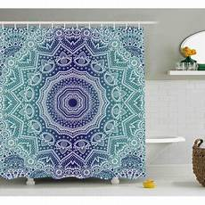 Navy And Teal Curtains by Navy And Teal Shower Curtain Cosmic Diagram Mandala