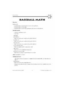 calculating era in baseball for my class worksheets math worksheets school resources