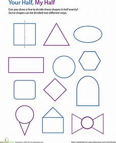 draw the line of symmetry upper grade math symmetry worksheets kindergarten math math