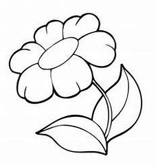 Blumen Malvorlagen Kostenlos Mp3 Simple Flower Coloring Page Whatmommydoes On