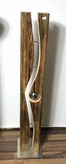Stehle Weiß Holz - altholzbalken mit silberkugel modell 25 altholz holz