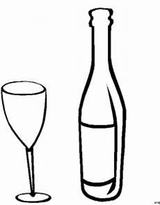 Gratis Malvorlagen Glas Glas Und Flasche Wein Ausmalbild Malvorlage Nahrung