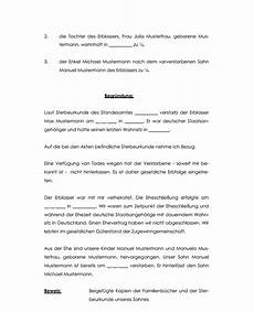 Muster Antrag Erbschein Testament - vertrag vorlage digitaldrucke de einfaches und