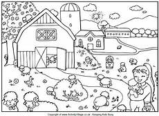 count the lambs puzzle and colouring page