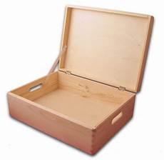 aufbewahrungsbox holzkiste mit deckel und griffl 246 chern