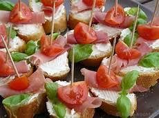 Tapas Tomaten Parmaschinken Schnittchen Rezept