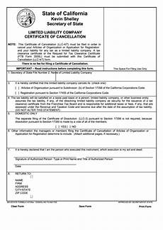 fillable form llc 4 7 limited liability company certificate of cancellation california