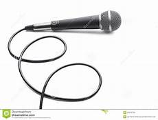 Microphone On White Background Stock Photo Image Of