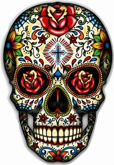 crane mexicain sugar skull vinyl sticker decal mexican day of the