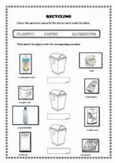 recycling esl worksheet by rosariogomez