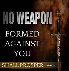 no weapon formed against you shall prosper thehouseofprayers