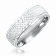 zig zag mens wedding band 14k white gold my trio rings