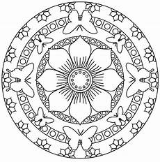 mandala butterflies and flowers m alas coloring pages