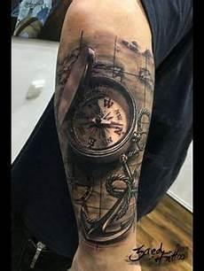 Kompass Kompass Unteram Und Kompass Tattoos