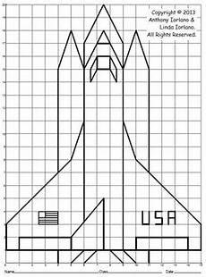 space shuttle coordinate graphing coordinate drawing tpt