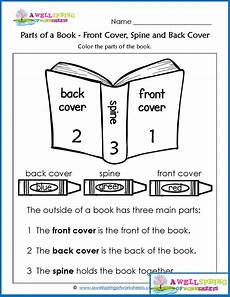 worksheets by subject parts of a book kindergarten worksheets kindergarten books