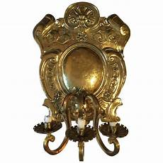19th century baroque style large brass three light swedish wall sconce for sale at 1stdibs