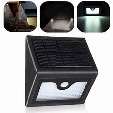 16 led solar power pir motion sensor wall light outdoor