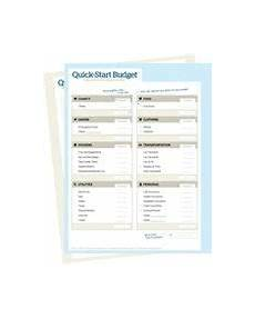 quick start budget form preview budgeting dave ramsey budgeting money