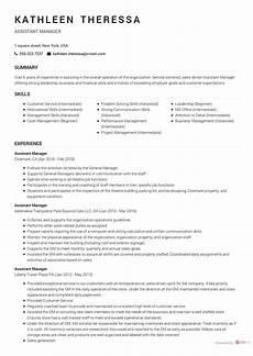 assistant manager resume sle cv owl