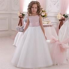 flower girl dress pink white tutu dress babytutu flowergirl dresses for wedding first communion