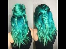 Blue With Green Hair