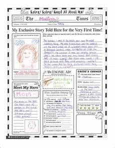 read all about me fill in poster grades 3 printable skills sheets and graphic organizers
