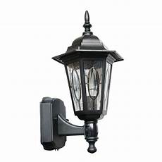 shop portfolio black motion activated outdoor wall light with oregonuforeview