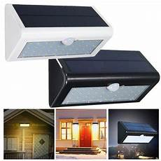 38 led solar power pir motion sensor light outdoor wall