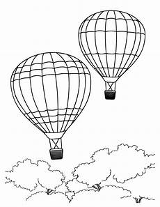 air balloon coloring pages kidsuki