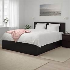 malm cadre lit coffre brun noir ikea
