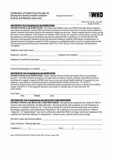 fillable form wh 380 e certification of health care provider for employee s serious health