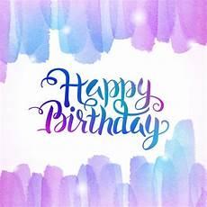 Aquarell Malvorlagen Happy Birthday Colorful Watercolor On Happy Thursday Text Stock Vector