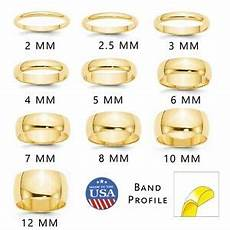 solid 14k yellow gold mens womens wedding band half
