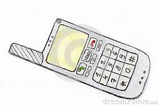 drawing of mobile phone stock image image 29275291