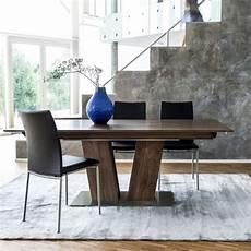 table extensible bois 15517 table en bois moderne extensible avec pied central sm39 4 pieds