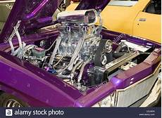 autos mit v8 motor supercharged v8 engine in an australian show car