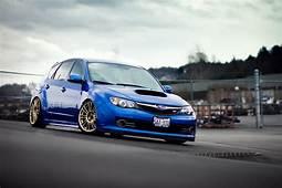 Subaru Impreza Sti Blue Hatch HD Wallpaper