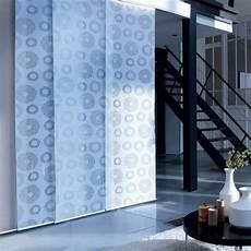 panneaux japonais coulissants panneau japonais voile blanc d 233 vor 233 cercles 60cm x 300cm