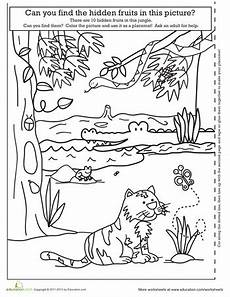 jungle animals worksheets for preschool 13917 printable educational placemats education