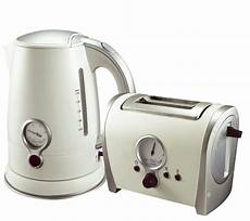 cordless kettle and toaster matching retro white 2
