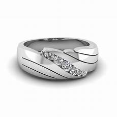 classic channel set diamond mens wedding band in 14k white gold fascinating diamonds